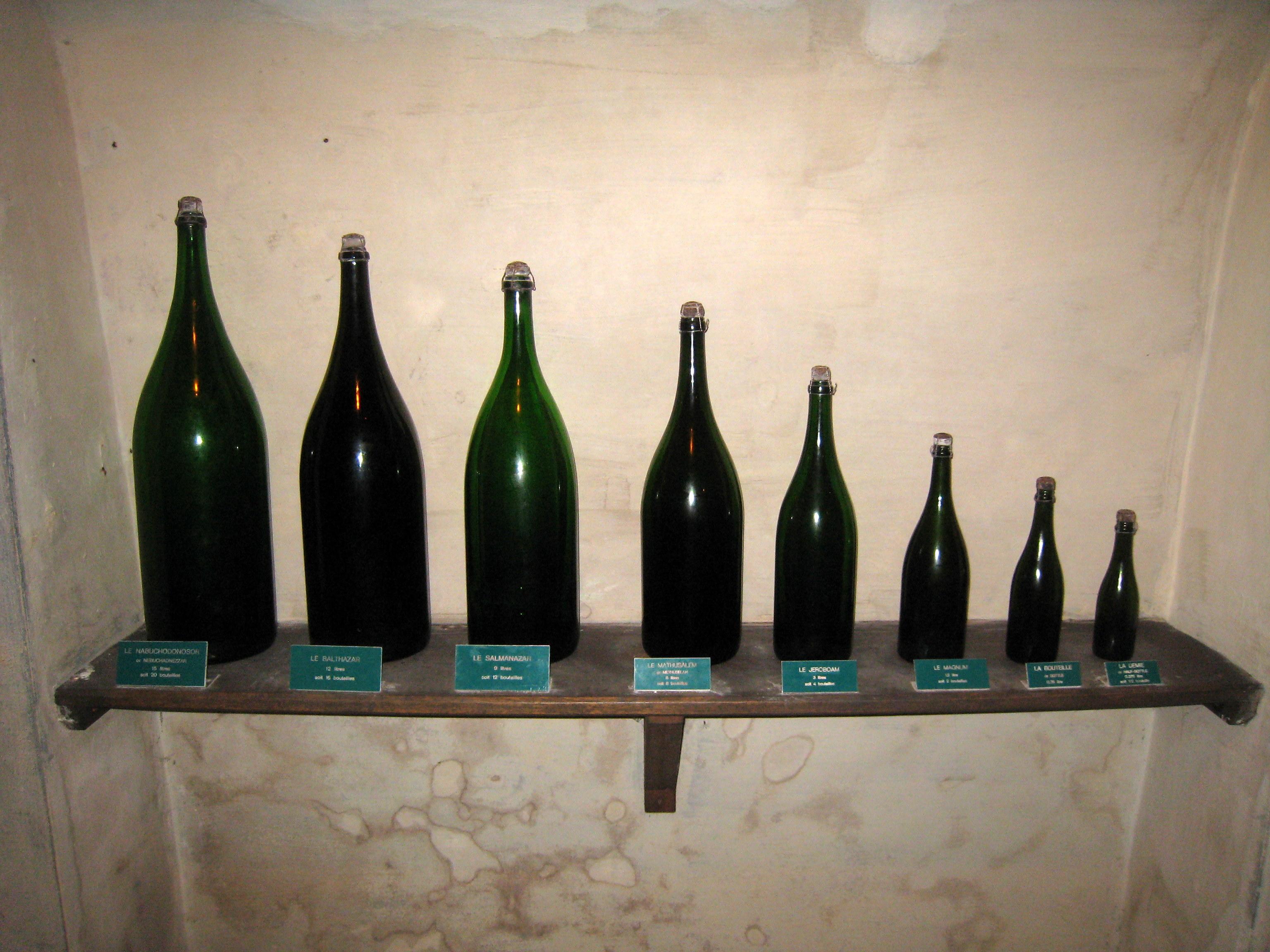 champage bottle sizes