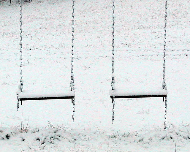 Snow Covered Swings - Waiting For Spring