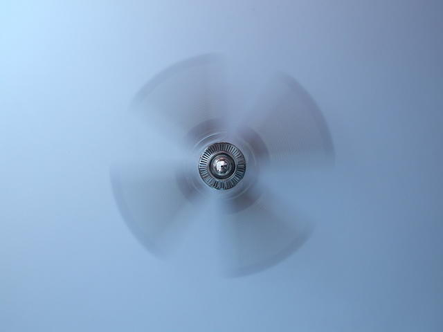 ceiling fan - moving slowly