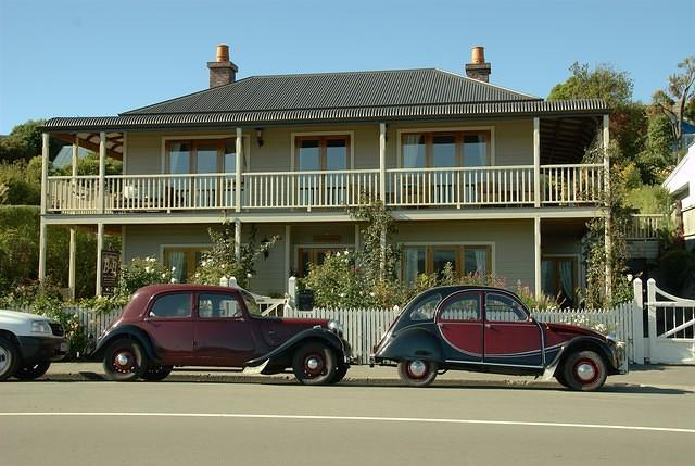 Two citroens in Akaroa