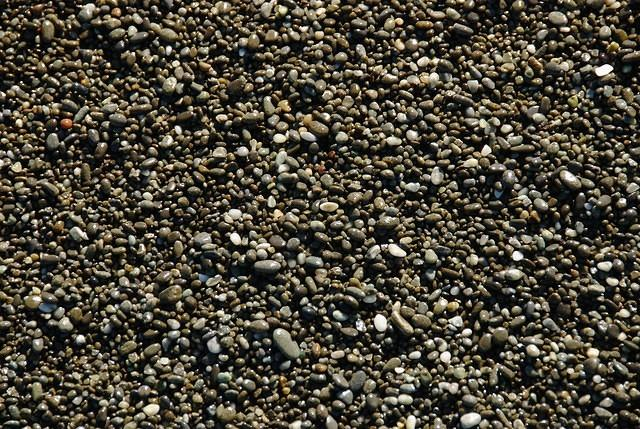 Finely pebbled beach