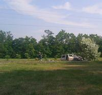 A Wrecked Van that hit a tree