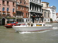 Powerboat in Venice