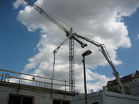 Crane, building site Berlin