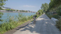 Lyon, the bike path Via Rhôna