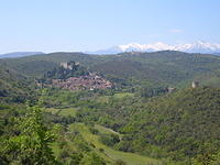 villiage in the mountains ( Castelnou )