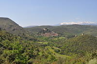 Mediterranean village in the French Pyrenees ( Castelnou )