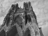 Cathedral-Reims-France-bw