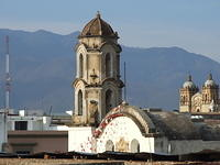 Church spires in Oaxaca