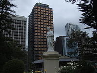 Statue and Office Tower, North Sydney, Australia