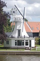 House in the style of a windmill. Norfolk Broads, UK.