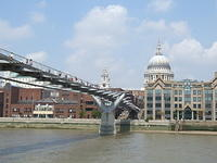 Millenium Bridge, and Old St. Paul's