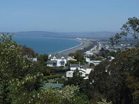 Napier waterfront from Bluff Hill, New Zealand