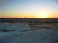Sunset over the White Desert, Egypt