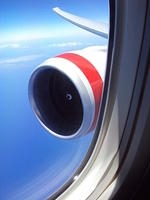 jet engine from window in flight