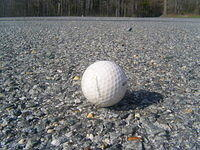 Golf Ball on Gravel