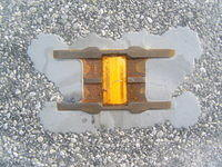 Reflector embedded in Road