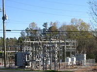 Outdoor power substation