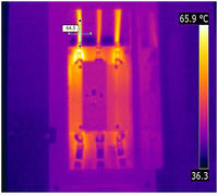 Infrared Image - Overheating Contactor Connection.bmp