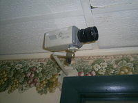 Old unplugged security Camera