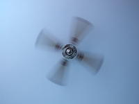 ceiling fan moving quicker, bluring