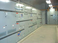 High power switch gear room.