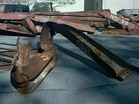 Twisted steel girder from the World Trade Center after September 11.