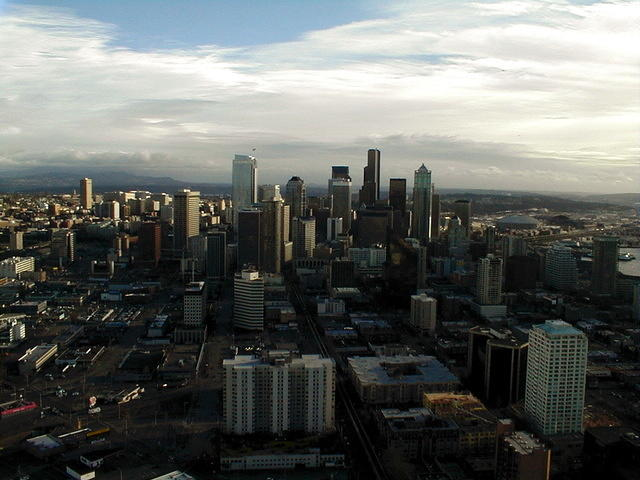 seattle skyline, city view
