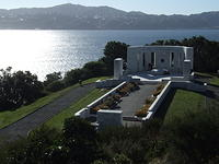 Massey Memorial, Wellington, New Zealand, overlooking Wellington & Harbour