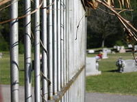 Fence at a cemetary