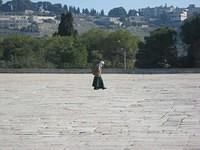 Woman on Dome of the Rock